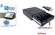 GASTRO Kassen-Set: USB Kassenlade + Windows KASSENSOFTWARE für Restaurant, Cafe