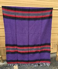 "Fancy Yoga Blanket Mexican Zarape 72"" x 52"" , Hot Rod , Seat Cover , Purple"