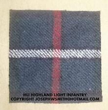 WW2 British Army HLI Highland Light Infantry, tartan for medal mounting frame