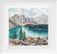 New Counted Cross Stitch Embroidery Kit Moraine Lake by Oven