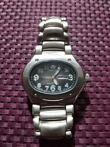 mens reactor orbit #85010 stainless watch with black face