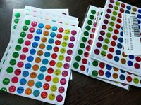 10 Sheets 630pc Kids Stickers Cute Happy Smiley Face Party Favour Teacher Reward