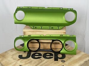 Mojito! Matte Clear Dash Panels Instrument Bezel Jeep Wrangler JL Gladiator JT