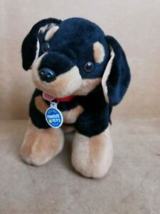 Build A Bear Promise Pet Dachshund Sausage Dog Black & Brown Plush Soft Toy VGC