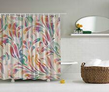 Pink Purple Blue Paisley Design Fabric Shower Curtain Digital Art Bathroom