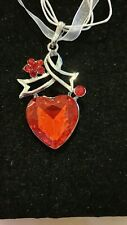 RED HEART  RHINESTONE NECKLACE, CHRISTMAS, BIRTHDAY, & MORE