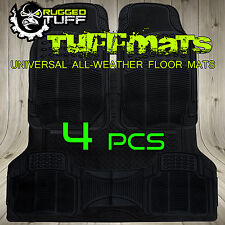 NEW 4 PC RUGGED TUFF FLOOR MATS SUV WATER PROOF ODORLESS UNIVERSAL TRIM TO FIT