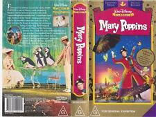 MARY POPPINS LIMITED RELEASE   WALT DISNEYS  VHS PAL VIDEO~A RARE FIND