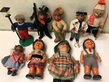Lot 9 Rare Peter Mecki 1970 Figurine Hérisson Autriche Figuren jouet ancien 70'