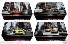 1 BOITE A SUCRE NEW YORK CITY TAXI COOKIE BISCUIT METAL DECO