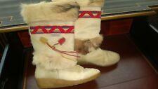 Technica Camel Color Goat Fur Apres Ski Boots  40 35 Italy