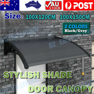 1.2M 1.5M Window Door Awning Outdoor UV Rain Cover Patio Canopy Sun Shield