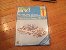 Nissan Pulsar 1983 - 1986 sealed plastic  Automotive Repair Manual Book