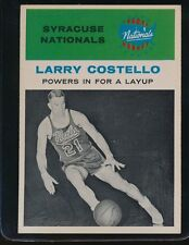 1961 FLEER LARRY COSTELLO POWERS IN FOR A LAYUP  EX/MT+ NATS #48 CENTERED