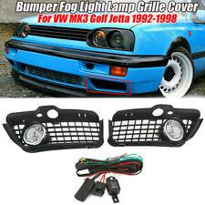 Pair Bumper Fog Light Lamp Grille Cover Protect For VW MK3 Golf Jetta 1992-1998