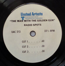 "UA The Man With The Golden Gun Radio Spots 7"" lp/Vik Records Man w/Golden Gun 45"