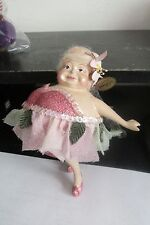 Katherine's Collection Fat Chubby Ballerina Fairy Ornament Glitter Dress & Shoes
