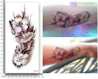 Blume Einmal Tattoos Blumen Temporary Temporäre Tattoo Rosen Body Sticker 19x9cm