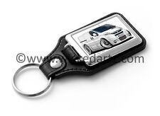 WickedKarz Cartoon Car Vauxhall Vivaro Van in White Key Ring
