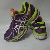 Asics Gel-Nimbus 15 T3B5N Women's Running Shoes Size 8 Sneakers Purple/Neon