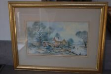 "original water colour by Brian c Day ""Stone Cottage"""