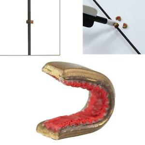 Outdoor Archery String Nocking Points Brass Nock Protect Buckle Clips Bow String