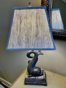 Theodore Alexander Brass Fish Table Lamp With Marble base