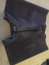 mens latex boxer shorts thru zip black
