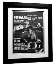 BOB DYLAN+Time Out Of Mind+POSTER+AD+RARE ORIGINAL 1997+FRAMED+FAST GLOBAL SHIP