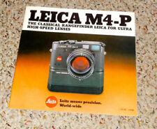 Vintage Leica M4-P Rangefinder Camera Sales Brochure