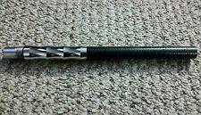 """Carbon fiber chrome Paintball Marker Barrel 12"""" threads. For Spyder"""