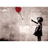 "Banksy Balloon Girl Street Graffiti Giant Wall Mural Art Poster Print 50x35"""