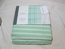 "New Threshold Mint Green Pleated Shower Curtain 72""x72"" NEW"
