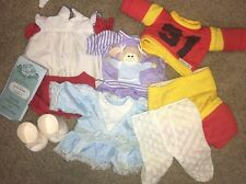 Lot Of Cpk Cabbage Patch Kids Clothes Birth Certificate Shoes Dresses Tights