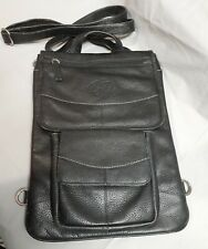 "MacCase Premium Leather 13"" MacBook Pro Flight Jacket Black Case Backpack"