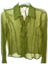 Forever21 women's olive woven sheer shirt. Size: Small NWT