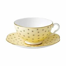 Wedgwood Polka Dot Tea Story Tasse à thé et soucoupe (Jaune)