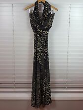 BARBARELLA Vintage sz 14 womens Tribal maxi print dress NEW +TAGS rrp$285[#2718]