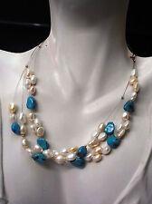Collier  Perle di Fiume e Turchesi