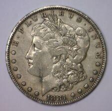 1881 P Morgan Silver Dollar Early Date $1 ~ EF Extra Fine XF