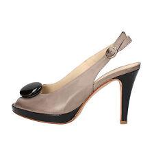 scarpe donna PELLINA 35,5 EU decolte grigio pelle AF783-C