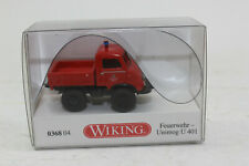 WIKING 036804 Fire Brigade Unimog U 401 With Flatbed New+Boxed