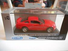Welly Ford Mustang GT 2005 in Red on 1:43 in Box