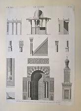 Eau-forte et burin, Description de l'Égypte, Le Caire, Début 19ème