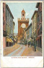 CARTOLINA d'Epoca - BRESCIA Città : CORSO GARIBALDI 1908