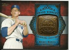 MICKEY MANTLE 2012 TOPPS AWARD WINNERS GOLDEN RING COLLECTION NICE