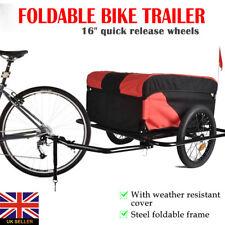 Lightweight Folding Black / Red Bike Cargo Dog Pet Bicycle Trailer carries 100Kg