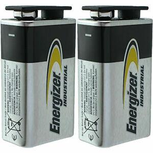 2 Piles 9V 6F22 6LR61 MN1604 4022 E-Block 9 Volts Alcaline Industrial Energizer