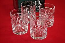 RALPH LAUREN ASTON DOUBLE OLD FASHIONED CRYSTAL GLASSES SET OF 4 ~11.8 oz NEW