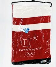 2018 PyeongChang Official Licensed Olympic Scarf Red White Blue